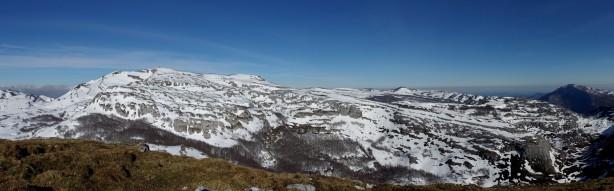 Panorámica desde Becerril hacia el Picón del Fraile.
